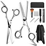 Beauty Shopping Hair Cutting Scissors Set, YBLNTEK 9 Pcs Professional Hairdressing Scissors Barber