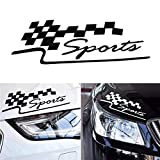 29 * 10CM 1Pcs Decal Racing Sports Flag Set Pegatinas de coches Auto Motocicleta Pegatina Car Styling