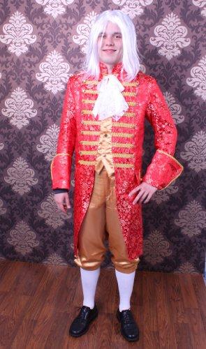 TH-MP Rokoko Kostüm für Herren Gr. L Gehrock Hose Barock rot/Gold