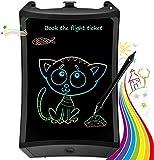 TEKFUN Tablet para niños 8.5 Pulgadas,Tableta de Escritura LCD de con Bloqueo de Pantalla borrable y función Reutilizable,Portatiles Baratos,Pizarra Luminosa niños,Juegos educativos(Black-1)