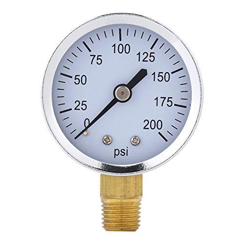 52 mm 0~200 psi Filtro de Piscina Mini Medidor de Presión de Agua Medidor Manómetro 1/4 NPT Montaje de Rosca para Combustible Líquido de Aceite de Aire