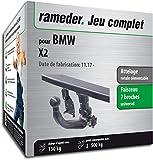 Rameder Attelage rotule démontable pour BMW X2 + Faisceau 7 Broches...