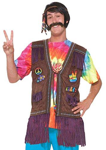 Forum Novelties Women's Generation Hippie Peace Vest, Multi, Standard