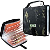 Rodeel Fishing Tackle Binder,Sea Fishing Organized Storage Rig Bag for Baits,Rigs,Jigs and Lines,8.5x8.5x1.1 Inches,Suitable for Fresh Water and Saltwater