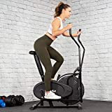 XtremepowerUS Dual Action Elliptical Fan Bike Cross Trainer Air Resistance System Machine Exercise Workout w/LCD Monitor