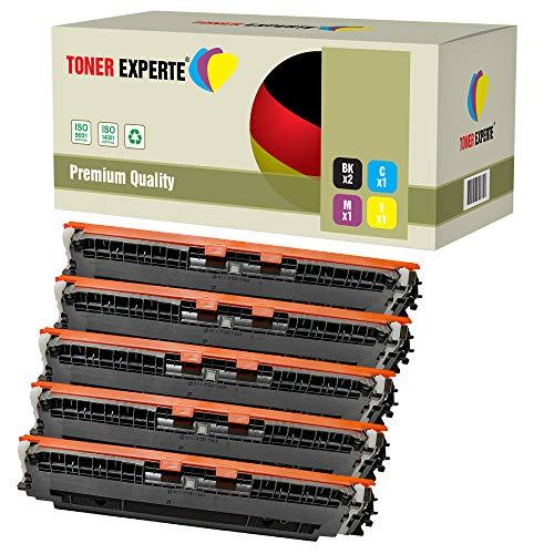 Pack de 5 TONER EXPERTE Compatibles 130A CF350A CF351A CF352A CF353A Cartuchos de Tóner Láser para HP Colour Laserjet Pro MFP M176N, M177FW