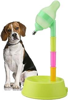 Pet Water Dispenser Pet Cat Standing Water Dispenser Cat Dog Standing Bowl Adjustable Height Water Feeder Drinking Bottle with No-drip Nozzle(Green)