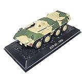 XIUYU Combattant Militaire modèle, 1/72 BTR-80 Personnel blindé Transporteur Russie Modèle en Alliage, Cadeaux Adultes, 4.1Inch X 1.5inch