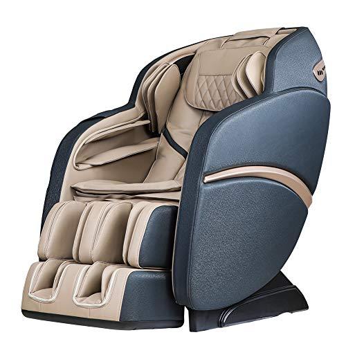 SUFUL-S6, sedia da massaggio per collo, massaggio alla schiena, massaggio alle gambe, guida S+L, con altoparlante Bluetooth, colore: beige