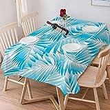 Wachstuch Tischdecke 140x200 cm,Blatt, Miami Tropical Aquatic Palmblätter mit exotischen Farben Mode,Rechteckige Tischabdeckung Gartentischdecke für Gastronomie, Feste, Party, Hochzeiten oder Haushalt