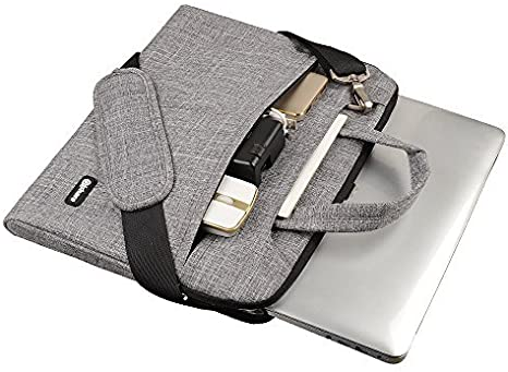Black, 15.6-16 Qishare 15 15.6 16inch Black Multi-Functional Business Laptop Sleeve//Carrying Handbag Briefcase//Laptop Messenger Bag for All 15 15.6 Inch Acer Asus Dell Lenovo Hp Samsung Toshiba