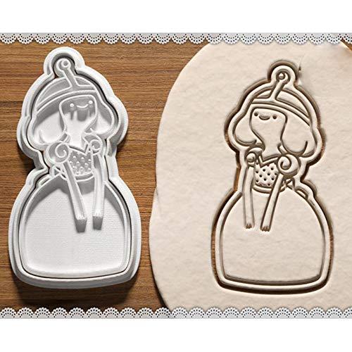 CSDY-Molde para Galletas 3D De La Serie Princesa De Dibujos Animados De Disney Cenicienta Blanca como La Nieve Fondant Tridimensional,5