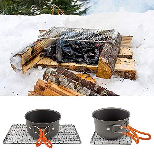Parrilla de barbacoa de acero inoxidable, material de acero con acero inoxidable 26x13x1.5cm