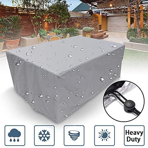 ZXGQF Fundas Muebles Jardín, Funda de Muebles de Jardín Exterior Mesa de jardín y Silla Cubierta de Protección Impermeable (260 * 135 * 82cm)