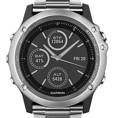 Lemumu Garmin FENIX 3 Sapphire titanio GPS Sport Watch 100m impermeabili, argento