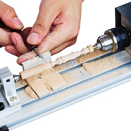KKmoon Mini draaibank kralen polijstmachine machine houtbewerking Craft DIY Rotary Tool Set Universal Set EU Plug