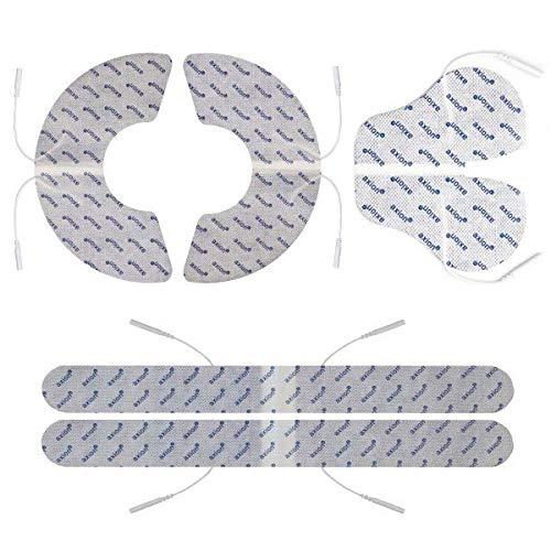 Set de electrodos tens ems para la espalda y hombro axion | compatible con electroestimulador TENS EMS | Parches tens con conexión 2 mm clavija o banana