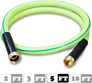 Atlantic Premium Hybrid Heavy Duty Garden Hose 5/8 inch 5 feet Brass Fittings Light Weight and Coils Easily, Kink Resistant