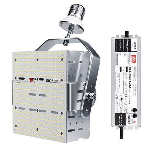 240W Shoebox LED Retrofit Kit=1000W MH/HPS/HID, E39 Base 5700K LED Parking Lot Tennis Court High Bay Retrofit Light Kits,ETL DLC Listed,AC 100-277V