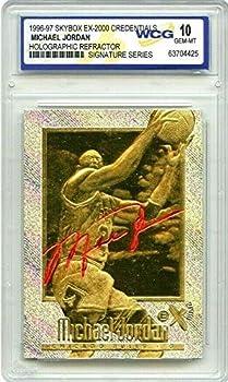 Merrick Mint Michael Jordan 1996-97 Credentials EX-2000 SIGNATURED WCG-GEM MT 10 Refractor H23 KT Gold Card!