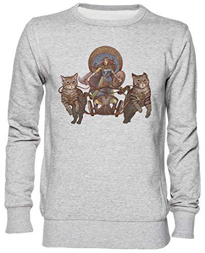 Freya Fahren Ihr Katzen Grau Kapuzenpullover Sweatshirt Unisex Herren Damen Größe M Grey Unisex Hoodie Size M