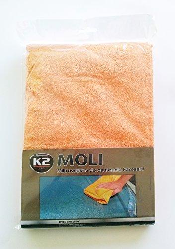 K2 MOLI Serviette de Lavage de Voiture 400 g/m² Grand Chiffon en Microfibre Doux
