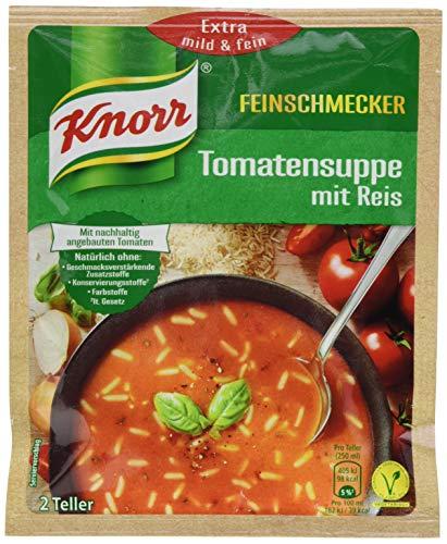 Knorr Feinschmecker Tomaten Suppe mit Reis 2 Teller