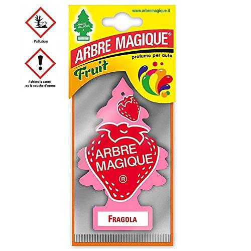 les colis noirs lcn Arbre Magique Fragola Fraise - Accessoire Désodorisant Voiture - 506
