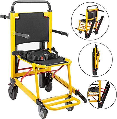 GLJY Treppensteigender Rollstuhl 350 lbs Manueller Treppenstuhl 200 W Notfall-Treppensteigender 4-Rad-Klappkran-Evakuierungs-Treppenlifte für Senioren,Electric