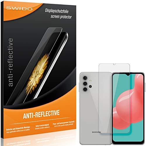 SWIDO Pellicola protettiva per Samsung Galaxy A32 5G [2 pezzi] antiriflesso, opaca, ad alta durezza, protezione da graffi/pellicola, protezione per lo schermo, pellicola protettiva in vetro temperato
