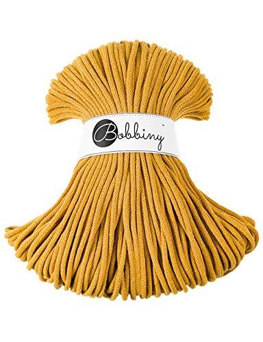 Bobbiny Oeko-Tex Kordel 5mm x 100 Meter für Makramee und Basteln in Mustard