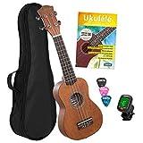 Best Aquila Acoustic Guitar Strings - CASCHA soprano ukulele set, French for children Review