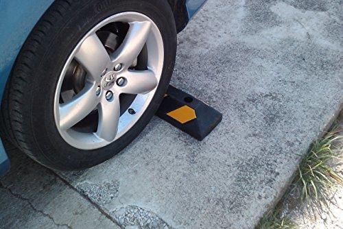 Einzel Gummi Parkplatzbegrenzung für Parkplätze und Garagen 55x15x10cm - 8