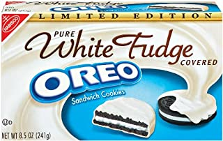 Oreo White Fudge Covered Chocolate Sandwich Cookies, 8.5 Ounce Boxes (Pack of 6)