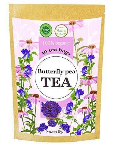 Flower dried tea premium Butterfly pea Tea bags Blue Colour