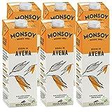MONSOY - Bebida De Avena BIO - Caja de 6 x 1L