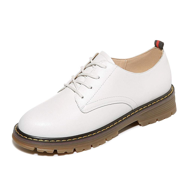 [THLD] パンプス 深い口 革靴 レースアップシューズ マーチンシューズ エンジニアブーツ ラウンドトゥ おじ靴 レディース 太めヒール レザー カジュアル 皮靴 ブラック べジュー 通学 イギリス風 オシャレ 靴