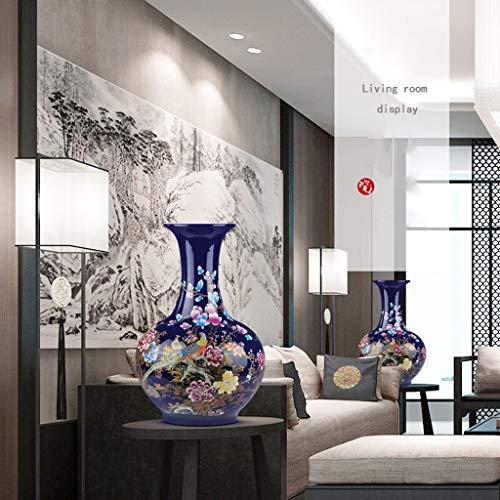 JKL Keramik Große Vase New Chinese Home Wohnzimmer Hotel Blumenschmuck Fernsehschrank Dekorationen Eingangsdekoration Hochzeitsgeschenk