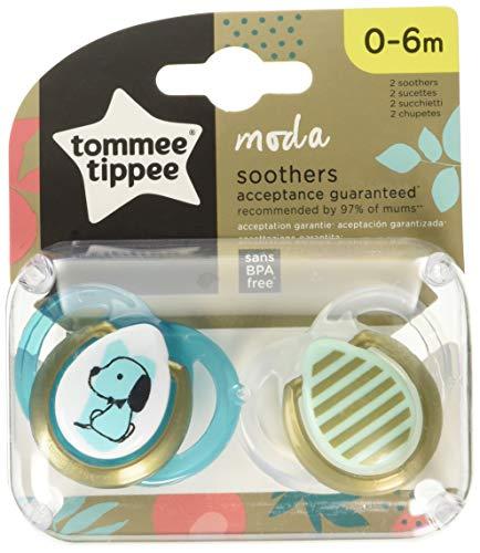 Tommee Tippee 2 chupetes de moda de 0 a 6 meses, 2 unidades