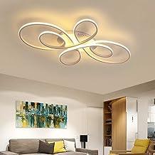 Led-plafondlamp voor de woonkamer, moderne plafondlamp, dimbaar met afstandsbediening, 50/60 watt, creatieve metalen woonk...