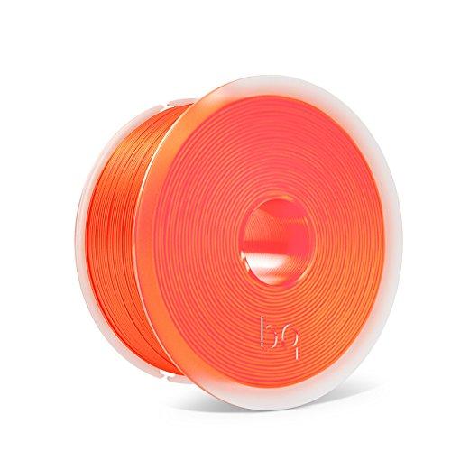 BQ Easy Go - Filamento de 1.75 mm (100 {75c6fe5928e270313944b17b1d86dfd975995ef3e5bb34a56d56d50f7cba6702} PLA, resistente a la acetona, rápido endurecimiento), color naranja fluorescente