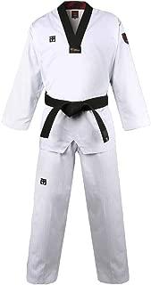 Mooto Korea Taekwondo BS4.5 Basic Uniform WT Logo White BK V-Neck MMA Martial Arts Karate Demonstration Team Gym School Academy