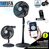 2in1 Ventilatore a Piantana Super Silenzionso | App Tuya Intelligente + Amazon Alexa + Google Assistant | VTX300 Ventilatore da Tavolo 55W con Telecomando & Display | RelaxxNow Air Conditioner…