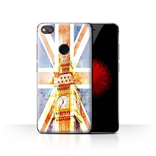 Stuff4 Hülle/Hülle für ZTE Nubia Z11 Mini/Big Ben Flagge Muster/Großbritannien/Britischer Stolz Kollektion