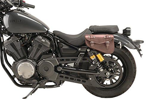 Customacces AZ1740N Alforja de Cuero Modelo Detroit 2.5L Color Marrón Lado Izquierdo para Harley Davidson Sportster Iron XL1200N 19'