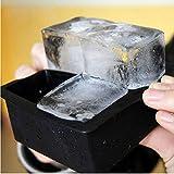 Trinken 4-Cavity Große Silikon-EIS-Würfel-Pudding-Gelee-Seifen-Form-Form-Behälter Werkzeug...