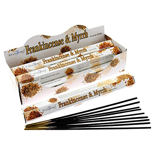 Stamford Incienso Mirra Incienso, 6 paquetes de 20 palos