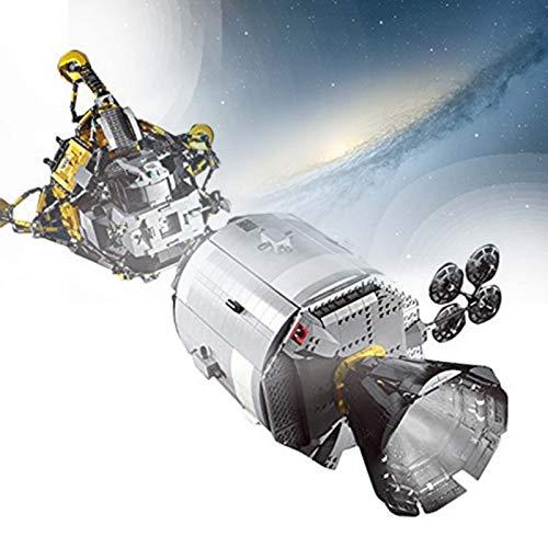 HAIRCURLER Raumfahrzeug Modellbausatz, Technik Apollo 11 Spacecraft Spielzeug, Mould King 21006, 7011 Teile, Originalgetreue Nachbildung, für Raumfahrtfans und Schulprojekt