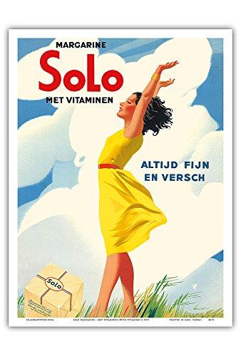"""Pacifica Island Art Solo Margarina-Met Vitaminen (con vitaminas)-Altijd fijn en Versch (Siempre Agradable y Fresco)-Vintage ca. 1937 Cartel de la Publicidad-Maestro Lámina-9""""x12"""""""