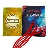 5 pulseras de cuerda roja de Cabalá bendecidas en Jerusalén con amuleto de sello de fertilidad del rey Salomón
